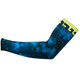 Bioracer Subli Camo Armwarmers navy blue/fluo yellow